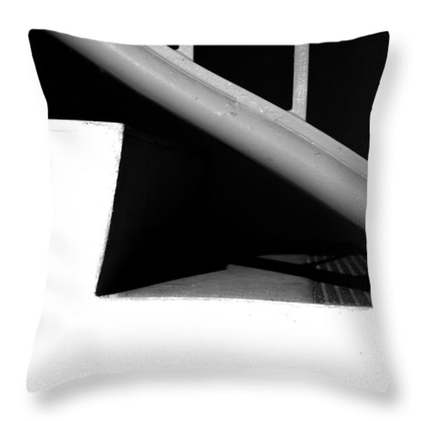 Two Steps Throw Pillow by Bob Orsillo