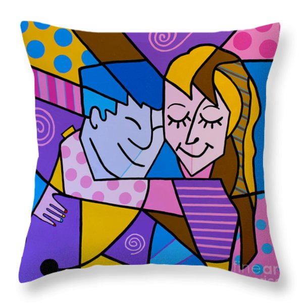 Twu Wuv Throw Pillow by Tim Ross
