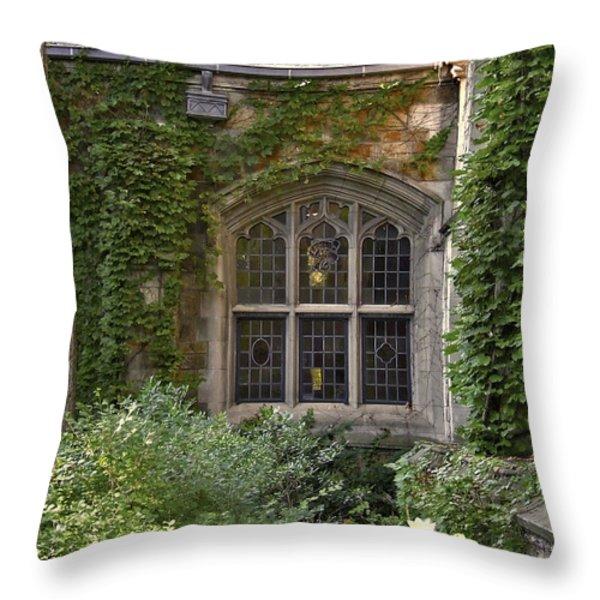 U Of M Halls Of Ivy Throw Pillow by Richard Gregurich