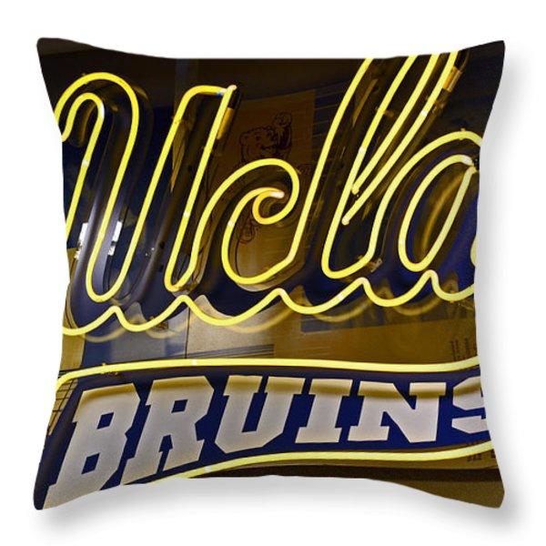 ucla bruins Throw Pillow by Bill Owen