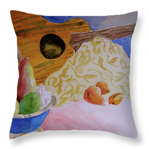 Ukelele Throw Pillow by Beverley Harper Tinsley