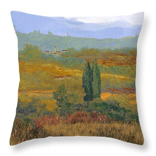 un altro pomeriggio in Toscana Throw Pillow by Guido Borelli