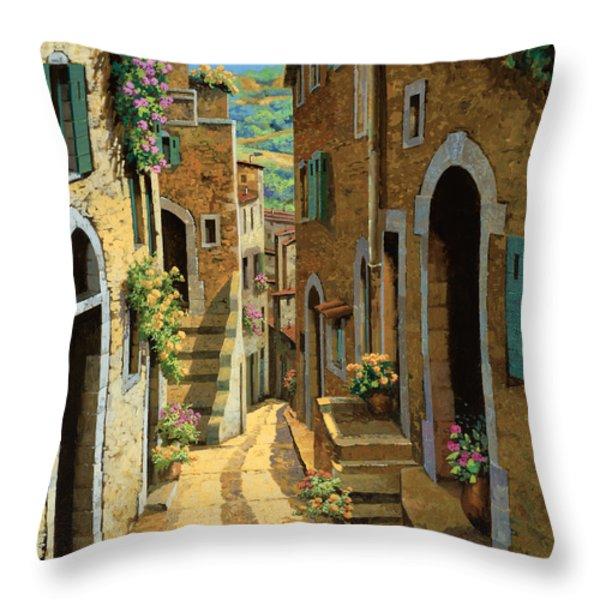 Un Passaggio Tra Le Case Throw Pillow by Guido Borelli
