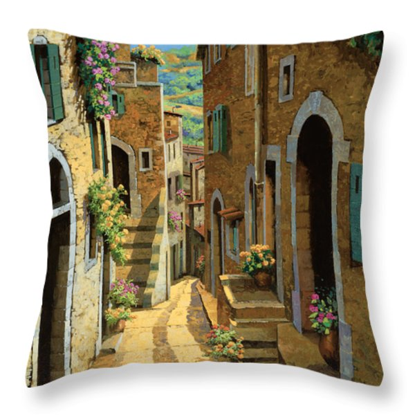 Un Passaggio Tra Le Case Throw Pillow by Guido Borelli