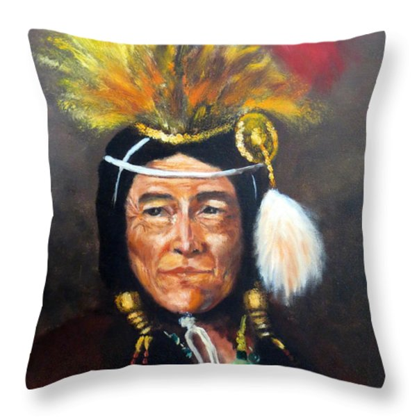 Uncle Joe Throw Pillow by Lee Piper