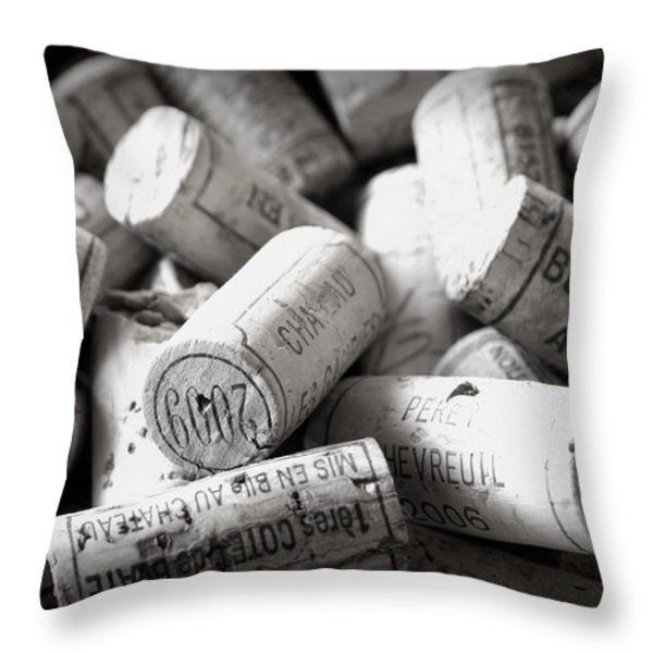 Uncorked Throw Pillow by Nomad Art And  Design
