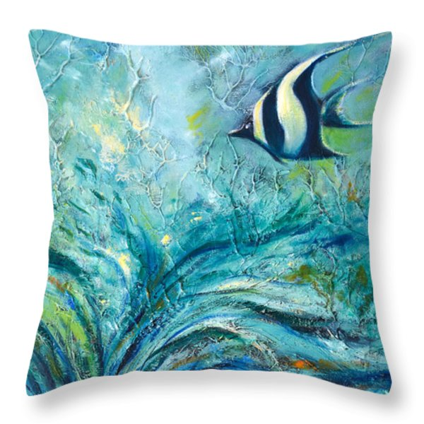 Throw Pillows - Under the Sea 9 Throw Pillow by Gina De Gorna