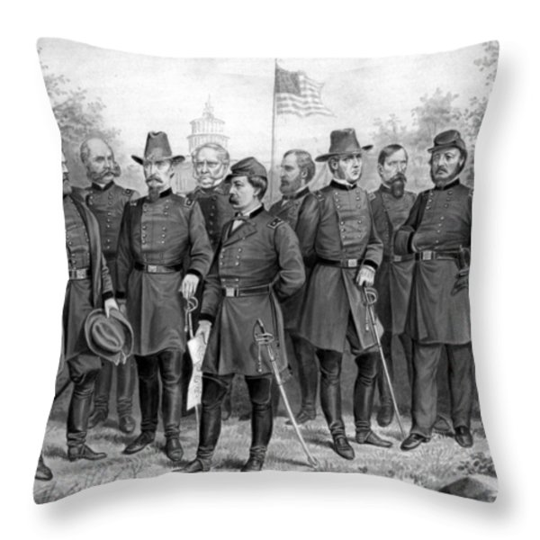 Union Generals Of The Civil War  Throw Pillow by War Is Hell Store
