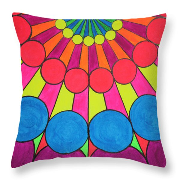 Universal Flower 1 Throw Pillow by Ann Sokolovich