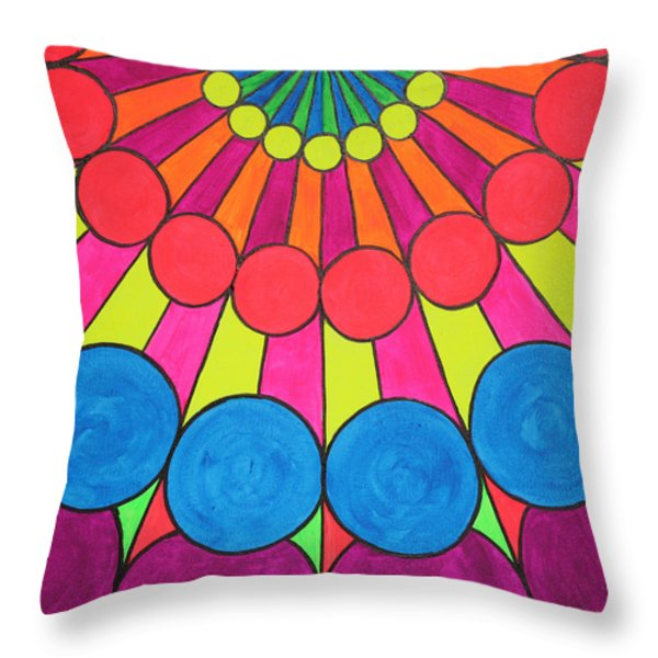 Universal Flower 2 Throw Pillow by Ann Sokolovich