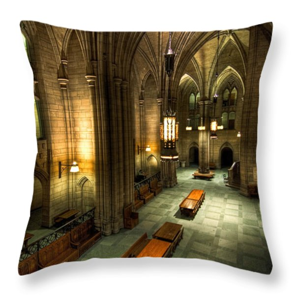 University Of Pittsburgh Cathedral Of Learning Throw Pillow by Amy Cicconi