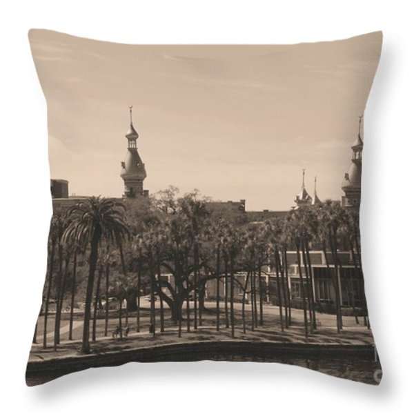 University of Tampa with Old World Framing Throw Pillow by Carol Groenen