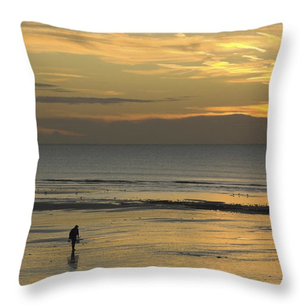 Up At First Light Throw Pillow by Hazy Apple