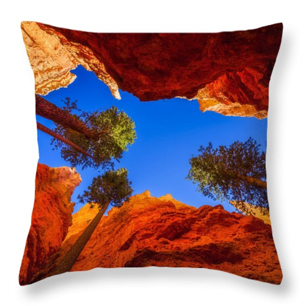 Up From Wall Street Throw Pillow by Chad Dutson