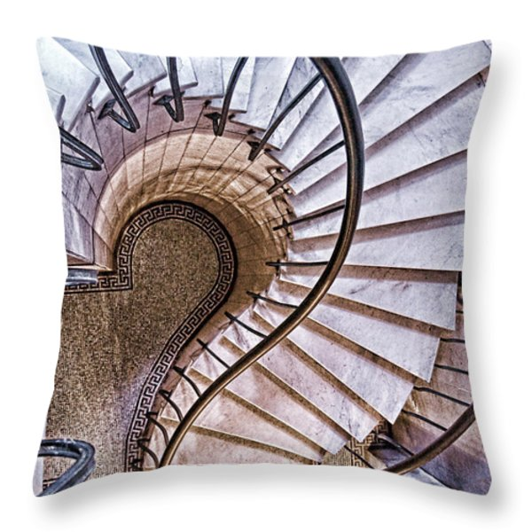 Up Or Down? Throw Pillow by Tom Mc Nemar