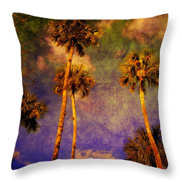 Up up to the sky Throw Pillow by Susanne Van Hulst