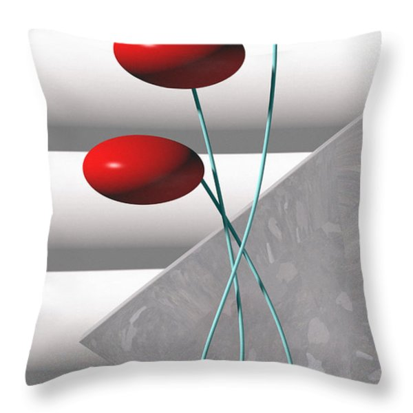 Ups N Downs Throw Pillow by Richard Rizzo