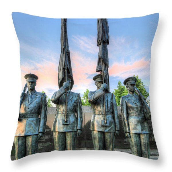 US Air Force Throw Pillow by JC Findley