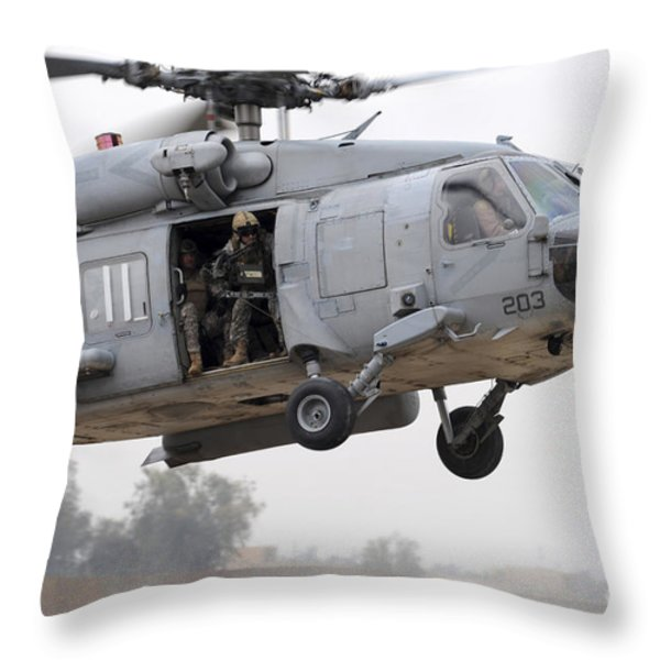 U.s. Special Forces Conduct Assault Throw Pillow by Stocktrek Images