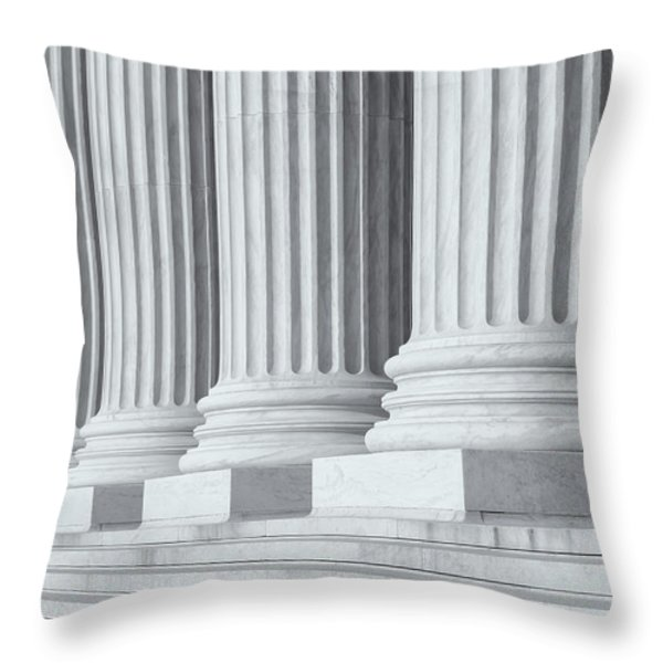 US Supreme Court Building IV Throw Pillow by Clarence Holmes