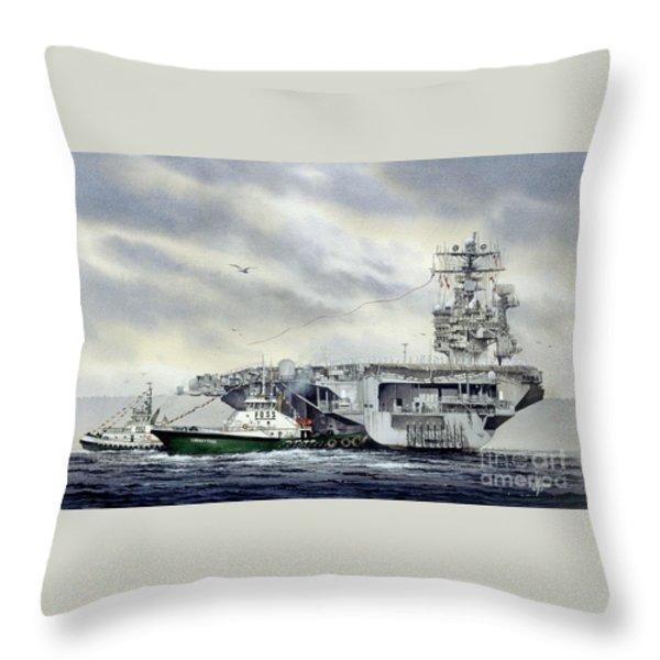 Uss Abraham Lincoln Throw Pillow by James Williamson