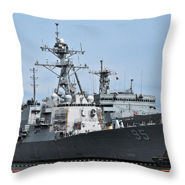 Uss James E. Williams Ddg-95 Throw Pillow by Christopher Holmes