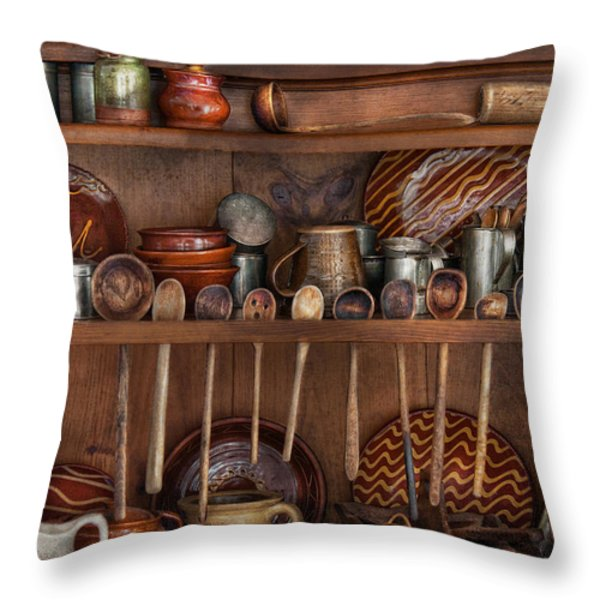 Utensils - What I found in a cabinet Throw Pillow by Mike Savad