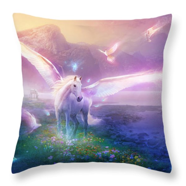 Utherworlds Winter Dawn Throw Pillow by Philip Straub