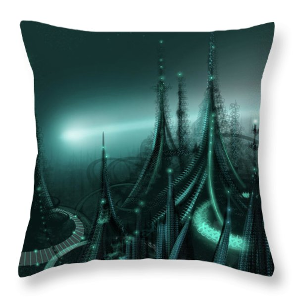 Utopia Throw Pillow by James Christopher Hill