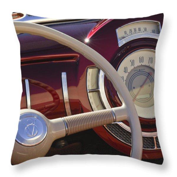 V8 Hot Rod Dash Throw Pillow by Jill Reger