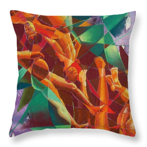 Valley Of Abstraction Throw Pillow by Ken Meyer jr