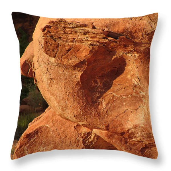 Valley of Fire - Nevada's Crown Jewel Throw Pillow by Christine Till