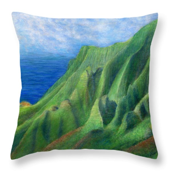 Valley Sunlight Throw Pillow by Kenneth Grzesik