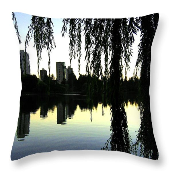 Vancouver- Lost Lagoon Throw Pillow by Will Borden