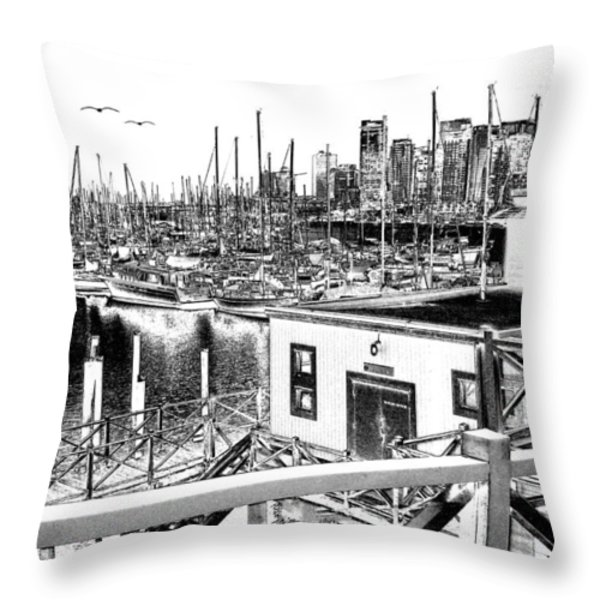 Vancouver Waterfront Throw Pillow by Will Borden
