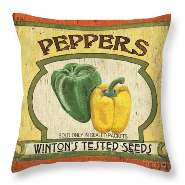 Veggie Seed Pack 2 Throw Pillow by Debbie DeWitt