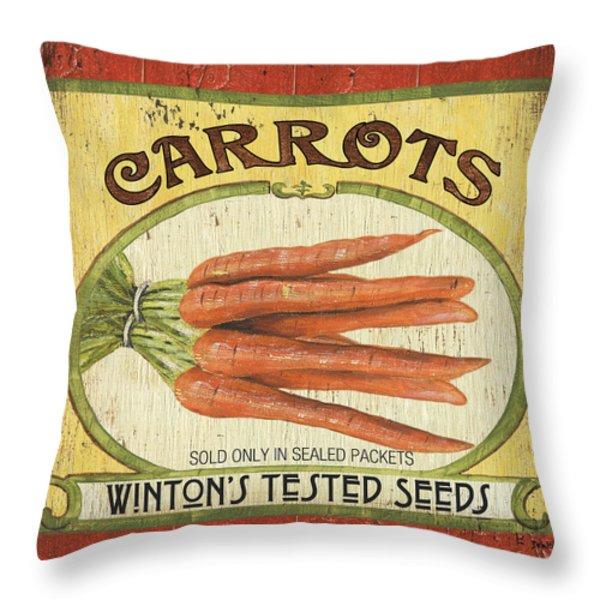 Veggie Seed Pack 4 Throw Pillow by Debbie DeWitt