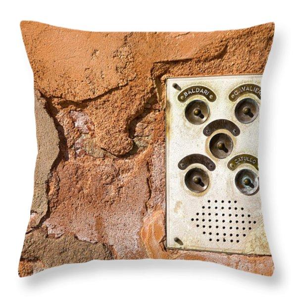 Venetian Door Bell Throw Pillow by Heiko Koehrer-Wagner