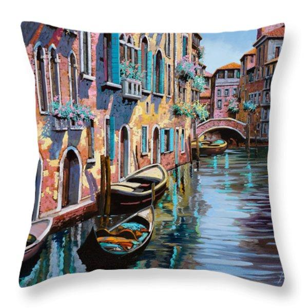 venezia in rosa Throw Pillow by Guido Borelli
