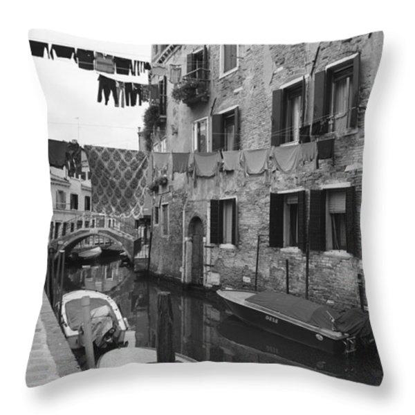 Venice Throw Pillow by Frank Tschakert