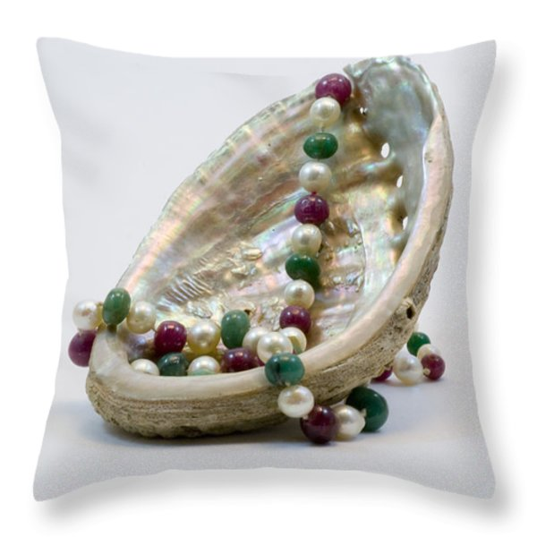 Venus Ear Throw Pillow by Sophie De Roumanie