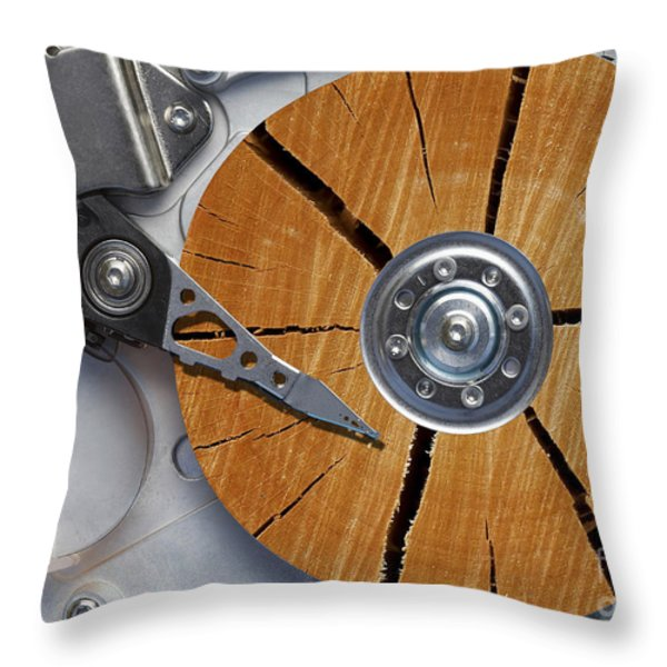 very old hard disc Throw Pillow by Michal Boubin