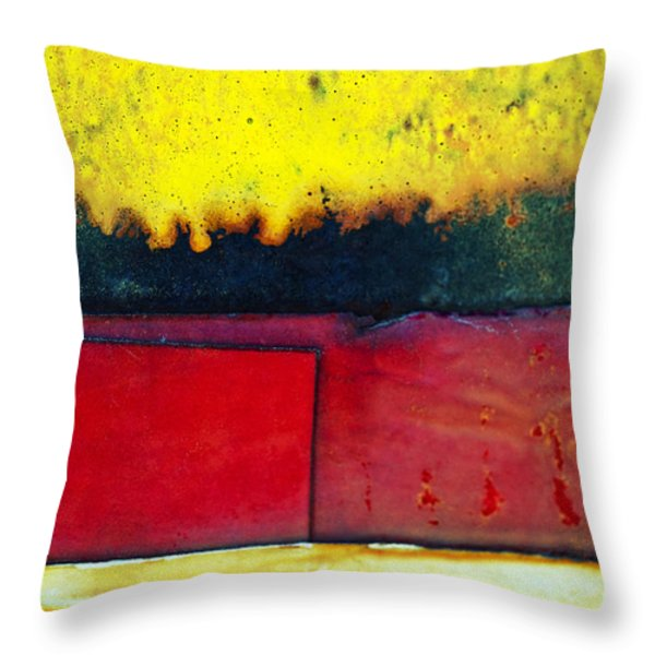 Vibrant Wall Colors Throw Pillow by Ray Laskowitz - Printscapes