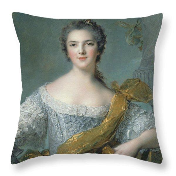 Victoire De France At Fontevrault Throw Pillow by Jean Marc Nattier