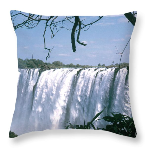 Victoria Falls Throw Pillow by Photo Researchers, Inc.