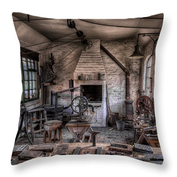 Victorian Locksmith Throw Pillow by Adrian Evans