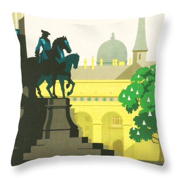 Vienna Throw Pillow by Nomad Art And  Design