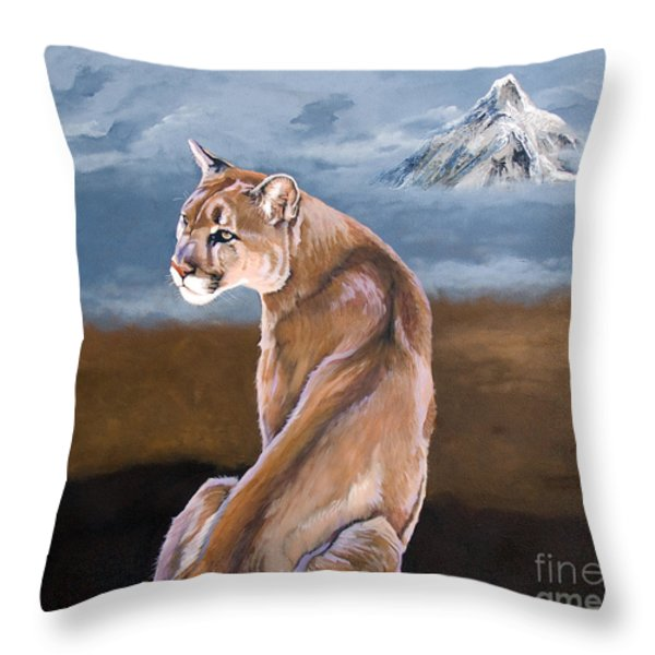 Vigilance Throw Pillow by J W Baker