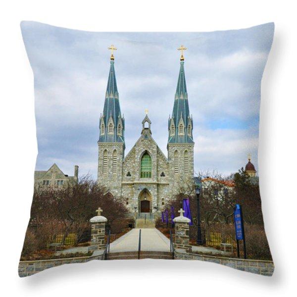 Villanova College Throw Pillow by Bill Cannon