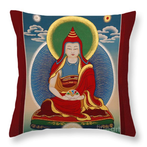 Vimalamitra Vidyadhara Throw Pillow by Sergey Noskov